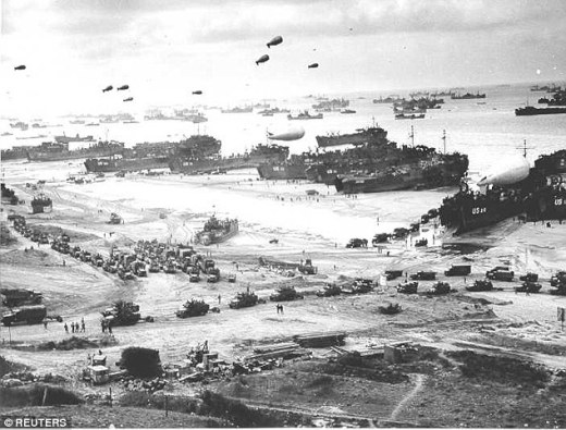 It was during the invasion of continental Europe after D-Day (pictured) that an increasing number of GIs turned to rape