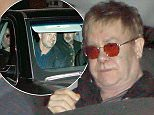 UK CLIENTS MUST CREDIT: AKM-GSI ONLY<br /> EXCLUSIVE: Sir Elton John celebrated his 68th birthday with his husband David Furnish and others at Mr. Chow in Beverly Hills.  The legendary singer opted for privacy as he left the celebrity hotspot through the private exit.</p> <p>Pictured: Elton John<br /> Ref: SPL984796  250315   EXCLUSIVE<br /> Picture by: AKM-GSI / Splash News