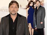 Mandatory Credit: Photo by Most Wanted/REX (4588648c)\n Olga Kurylenko and Russell Crowe\n 'The Water Diviner' film photocall, Madrid, Spain - 27 Mar 2015\n \n