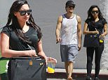 Picture Shows: Ryan Dorsey, Naya Rivera  March 27, 2015 <p> Pregnant 'Glee' star Naya Rivera and her husband Ryan Dorsey leave the gym after a morning workout together in Los Angeles, California. Naya kept her small baby bump hidden behind her large handbag as they headed to their car. </p> <p> Exclusive All Round<br />  UK RIGHTS ONLY</p> <p> Pictures by : FameFlynet UK    2015<br />  Tel : +44 (0)20 3551 5049<br />  Email : info@fameflynet.uk.com