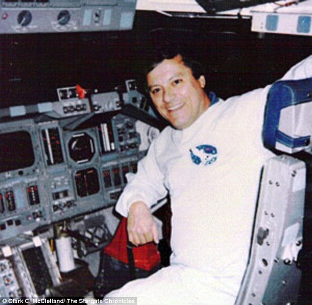 Sighting? Clark McClelland, allegedly pictured during his time with NASA, claims he saw a nine-foot alien