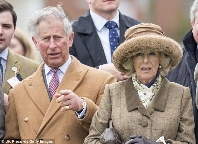 Prince Charles (pictured with Camilla at Ascot) made an 80-mile trip by helicopter just days after he urged people to turn off their lights to save energy