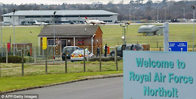 The father of one of three teenagers arrested in Turkey on suspicion of trying to join Islamic State fighters in Syria works for the Ministry of Defence, it has been revealed.It is not clear where or at what level at the MoD he worked, but it has post offices at RAF Northolt (pictured)