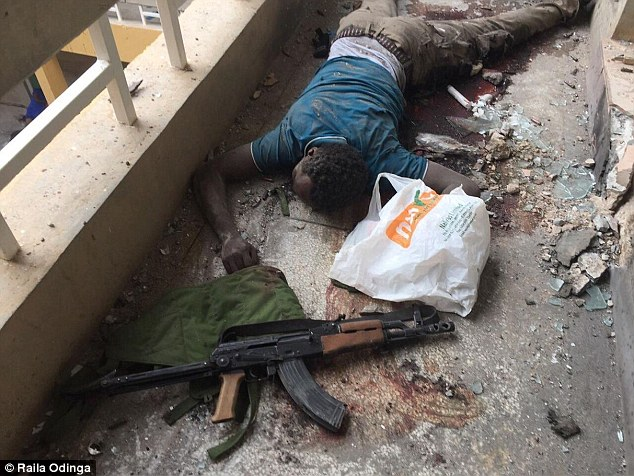 Kenyan opposition leader Raila Odinga said this was one of the terrorists responsible for yesterday's attack