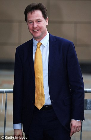 Nick Clegg disowned all responsibility and refused to open an inquiry into the allegations