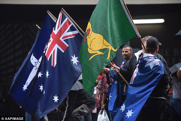 Hundreds of people attended the 'Reclaim Australia' rally held in Martin Place, Sydney