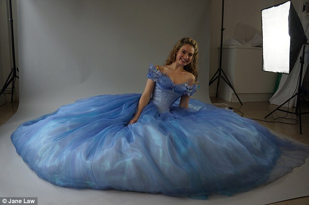 Rave reviews: Cinderella is played by Downton Abbey's Lily James. The film has had excellent reviews with Vanity Fair calling it 'genuinely magical'