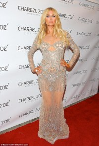 Paris Hilton dons completely see-through gown on red ...