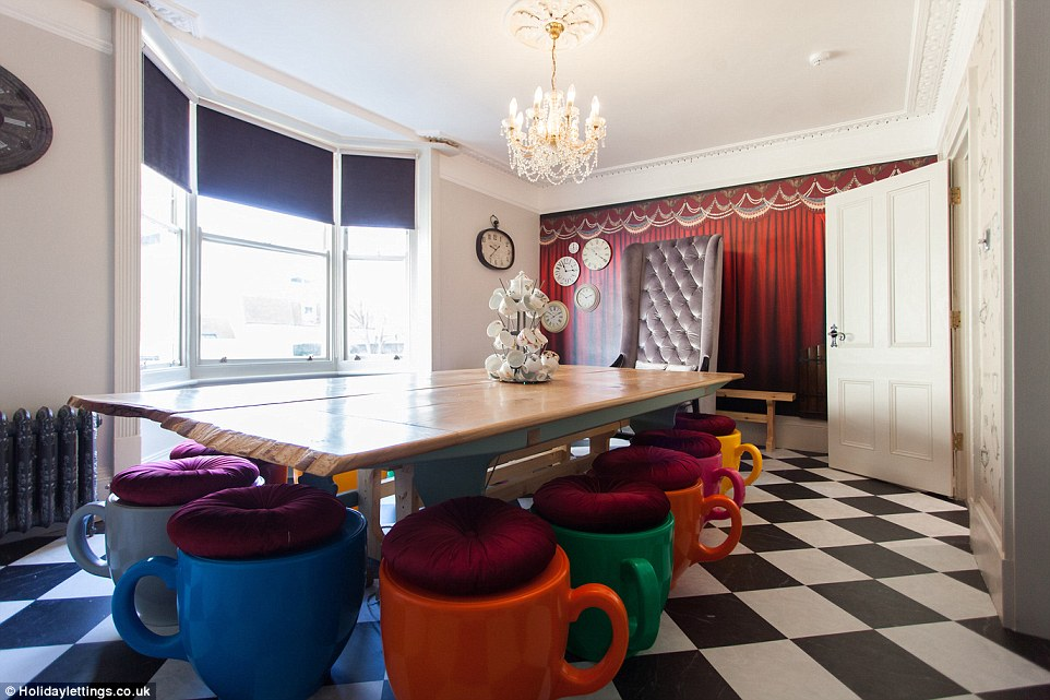 disney table and chair set best chairs inc ferdinand indiana inside the ultimate alice in wonderland retreat brighton | daily mail online