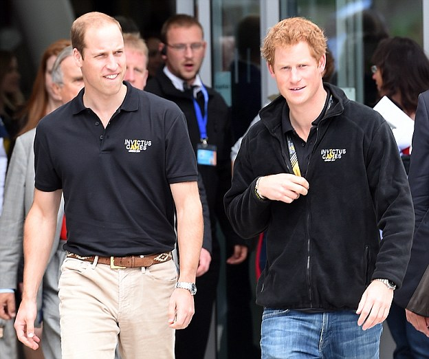 Princes William and Harry are the most popular members of the royal family