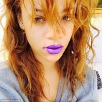 Rihanna sports full length fluffy coat in Coachella desert ...