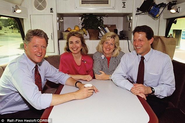 Al Tipper Gore Bill Hillary Clinton And