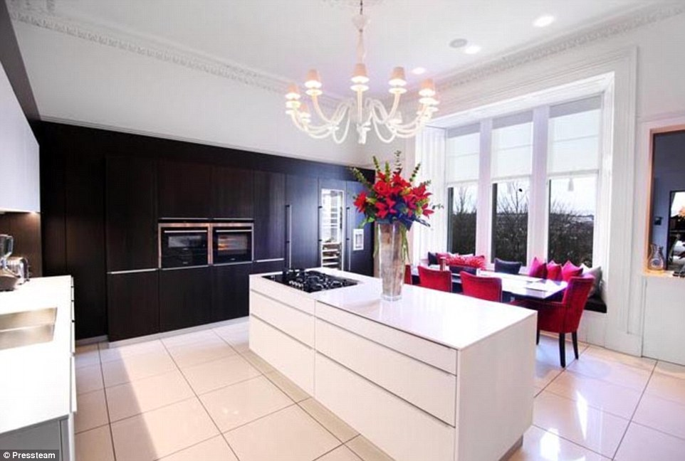 large kitchen island for sale dark table inside michelle mone's £1m luxury house that is on the ...