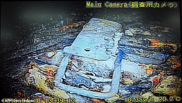 These are the first incredible pictures inside the melted nuclear reactor at Fukushima  power plant after the 2011 disaster