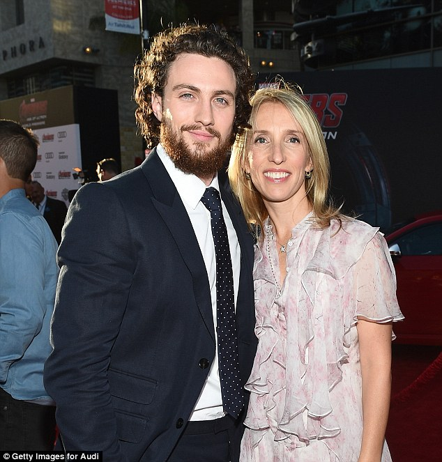 Aaron Taylor-Johnson with wife Sam at Avengers: Age Of ...