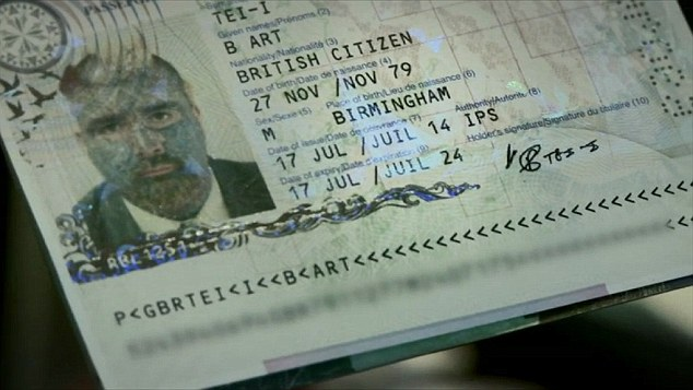 Legal: Mr Body Art shows off a passport emblazoned with his unusual self-chosen name