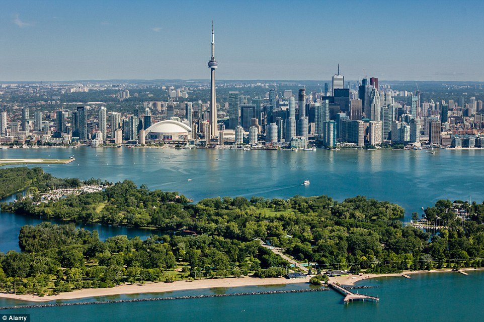 Located in the heart of downtown Toronto, the CN Tower offers sweeping views of Canada's largest city and Lake Ontario