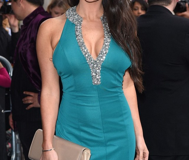 Busty Display Dressed In A Striking Tight Turquoise Number The Former Glamour Model Looked
