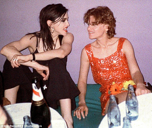 Madonna was close friends with openly bisexual comedienne Sandra Bernhard; pictured above in 2000