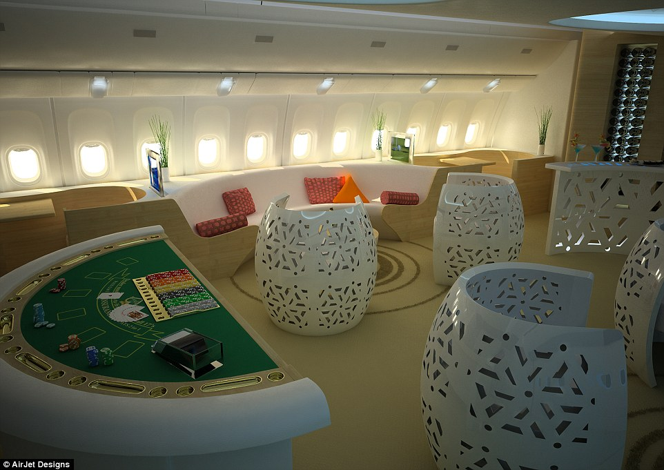 toddler high chair seat toy story table and chairs inside the booming industry of private jet design | daily mail online