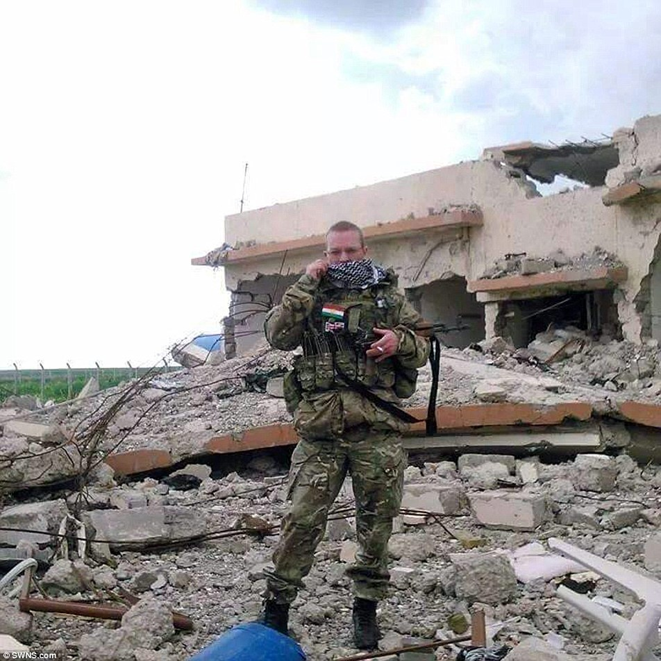 The 46-year-old Gulf War veteran is fighting alongside the Peshmerga, the Iraqi Kurdistan forces, and is due to become an official member