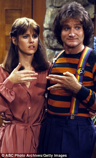 Critical acclaim: The actor found fame with his portrayal of a kooky alien in the 1970s sitcom Mork and Mindy