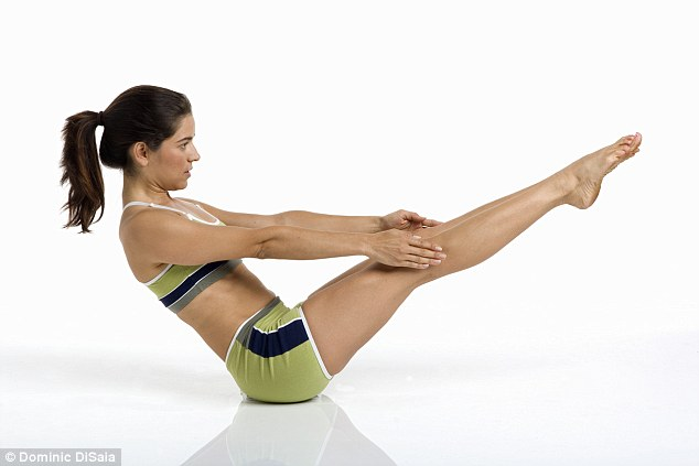 Rolling around: Use a towel roll or foam roller to work your abs and create heat in the groin