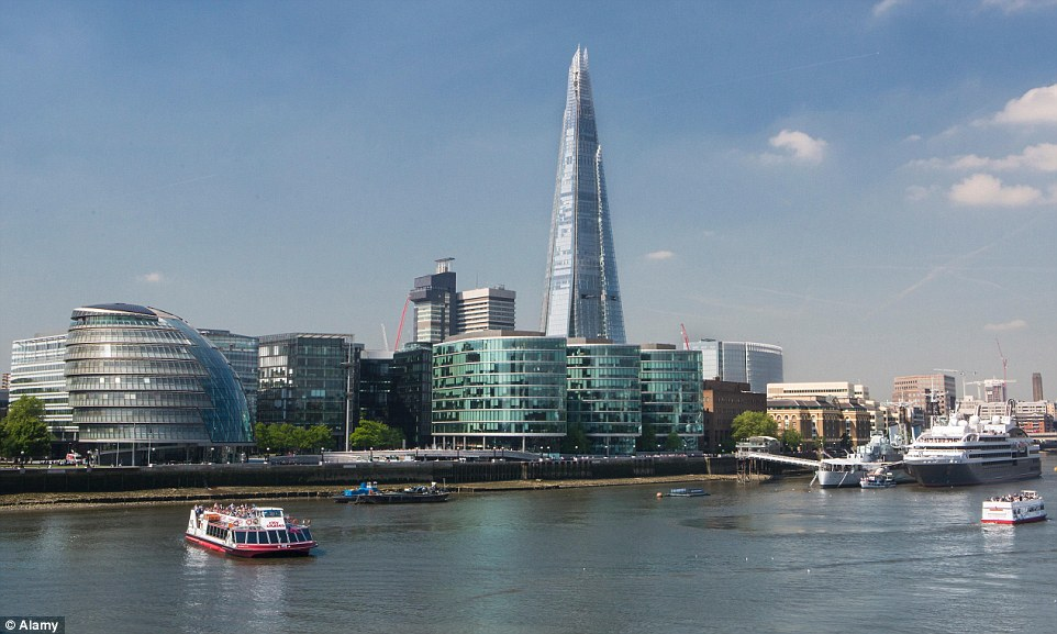 Prized: The Shard, pictured centre, western Europe's tallest skyscraper, is one of a string of high profile developments Qatar owns in the city