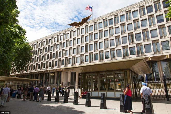 Plans to develop: Qatari Diar Real Estate Investment bought the US Embassy building in Grosvenor Square, Mayfair, pictured, in 2009