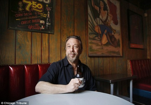 Unrepentant owner: Mr. Lottz said he would burn the bar down before getting rid of the two-way-mirror