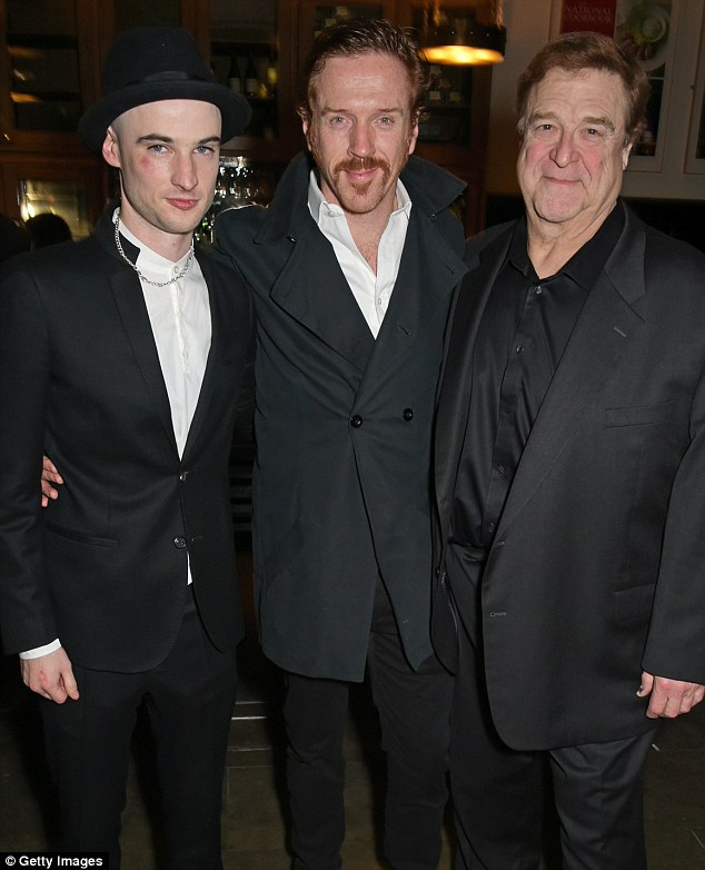 Triple threat: Damian stars in the play alongside (l-r) Tom Sturridge and John Goodman