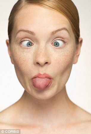 Gurning, or face distorting, gives tense muscles a well-needed inner massage