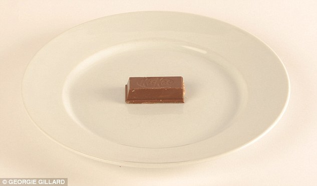 Half a Kit Kat Chunky eats up the 100 calorie allowance in a flash