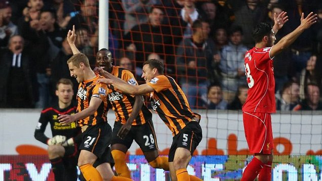 Image result for hull 1-0 liverpool