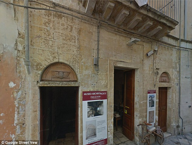 Eight years after it was meant to open as a restaurant, the building has been turned into Museum Faggiano (pictured) and a number of staircases allow visitors to travel down through time to visit the ancient underground chambers discovered by the family