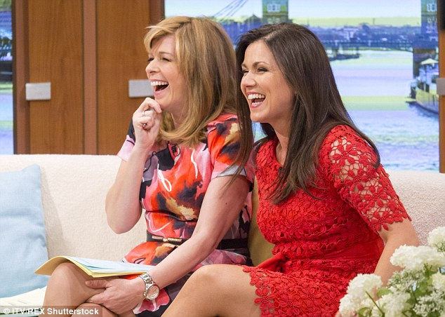 sofa comparison large chesterfield susanna reid laughs with kate garraway on good morning ...