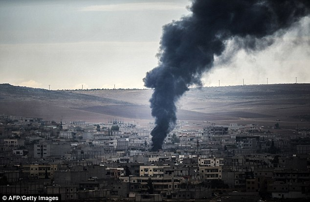 The four month battle of Kobane (pictured) became a focal point of the conflict against ISIS when Kurdish forces desperately staved off the ISIS attack