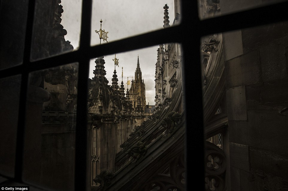 View from the window: The space will give visitors views down over the abbey buildings and the neighbouring Palace of Westminster