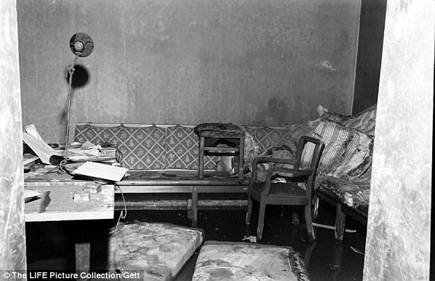 Capturing the nightmare: William Vandivert's photograph taken inside the bunker in the spring of 1945