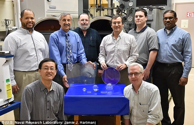 The team behind the new material (shown above) have spent nearly a decade developing the techniques