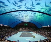 Architect Serves Plans Underwater Tennis Court