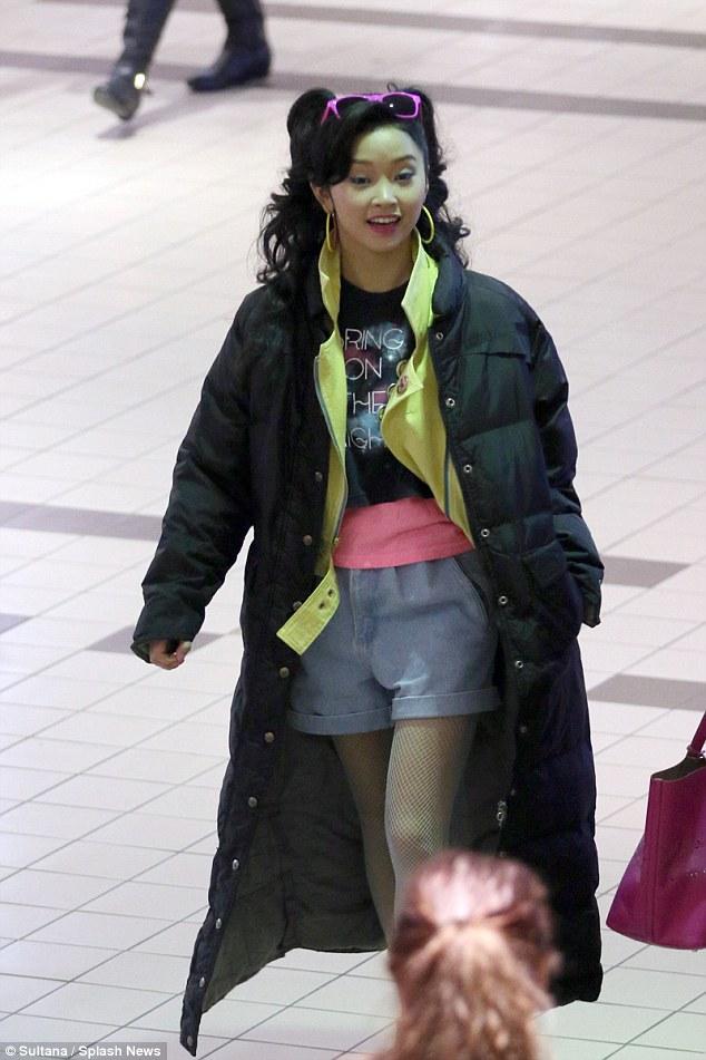 XMen Apocalypses Lana Condor makes her debut as Jubilee