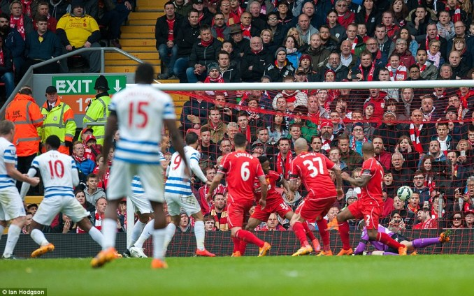 Leroy Fer (left) lashed QPR level at Anfield in the second half, punishing Liverpool for a series of missed chances