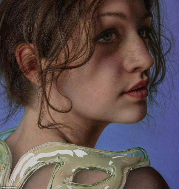 Hyperrealistic Paintings Of Women Skin Turned