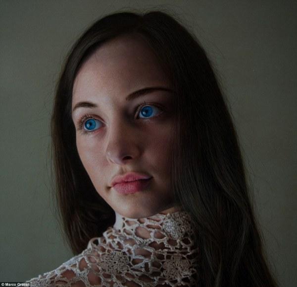 Realistic Woman Portrait Painting
