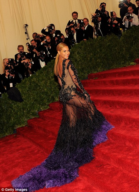 Inspiration? However, some have pointed out that Kim's sheer gown looks suspiciously similar to Beyonce's choice of attire at the 2012 Met Gala