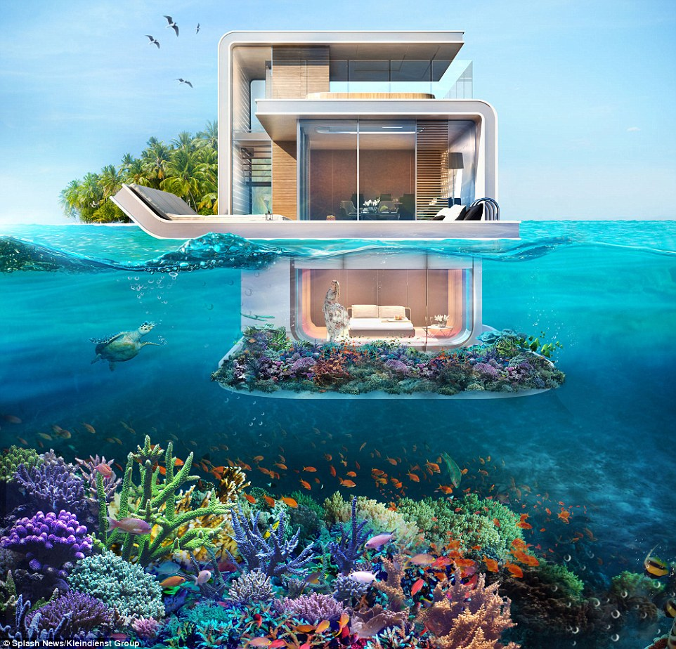 They might look like something out of a James Bond movie but these luxury underwater houses - the first of their kind in the world - are set to be built in Dubai
