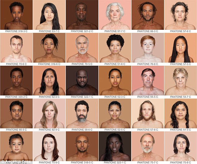 Though the project, Humanae, shows how vast the variety in skin tones is, it also shows the continuous spectrum that goes through the colors