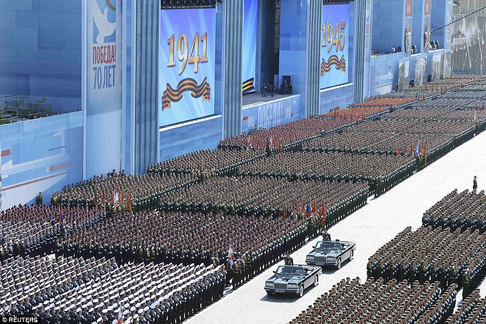 The V Day parade in Red Square, Moscow, is a chance for the country to showcase its formidable defensive powers