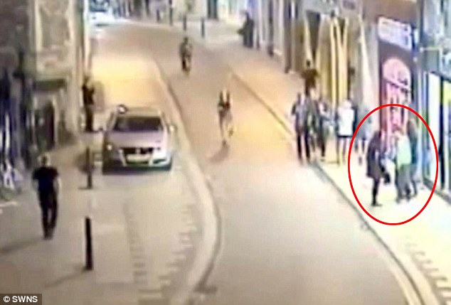 The footage allegedly showed Abugtila, 23, first approach a woman in the early hours of October 26 - but she pushed him away